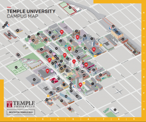 Temple University Campus Map Off the Map – Abby Austin