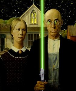 Grant Woods 1930 Painting American Gothic Is Probably The Most Intriguing Icon Weve Studied This Semester In That It So Different From