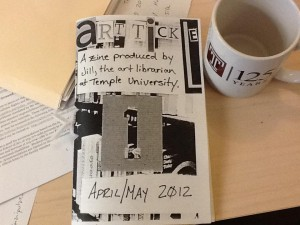 April and May 2012 edition of the ArtTickle magazine at Temple University