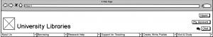 screenshot of navigation menu