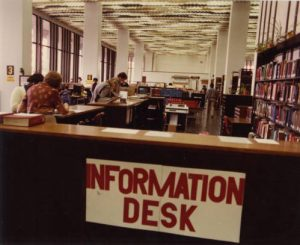 Reference desk from 1982.