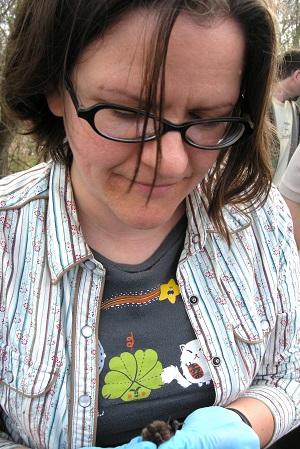 Lisa Powers and Myotis sodalis