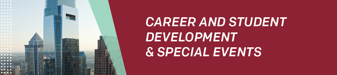 sample resume career and student development special events