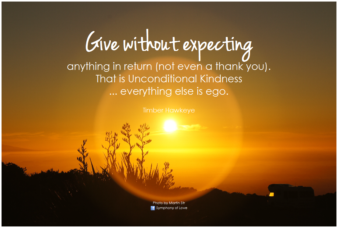 Give Without Expecting