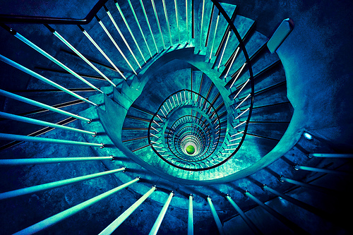 CC BY 2.0 - Spiral Stairway by aotaro on Flickr