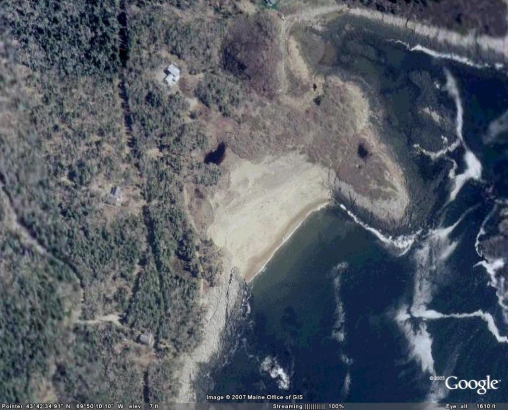Seal Cove aerial 1cm=25 m