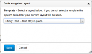 screenshot of template selection screen in LibGuides