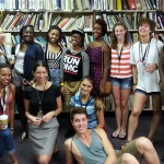 Some of the incoming BFA students at summer orientation, with Peer Advisor and senior dance major Nia Shand, and myself
