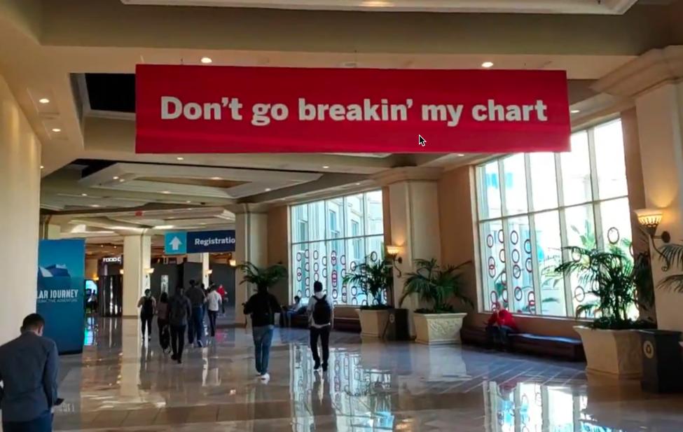Data banner pun: Don't go breaking my chart