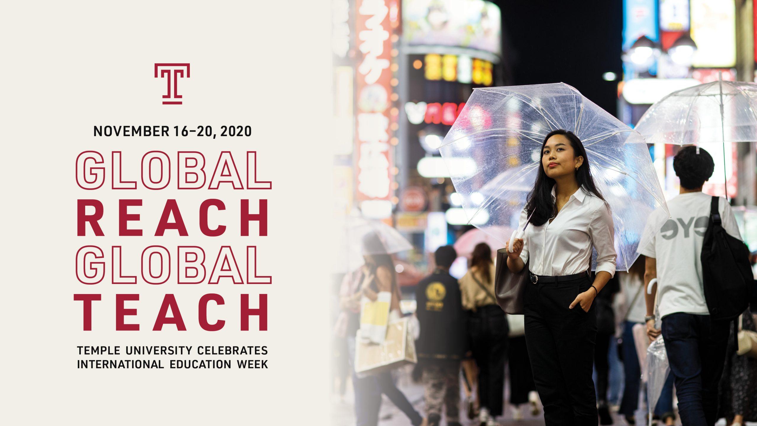 Temple University: Global Reach, Global Teach. International Education Week 2020