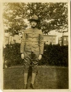 Morris Wolf in uniform