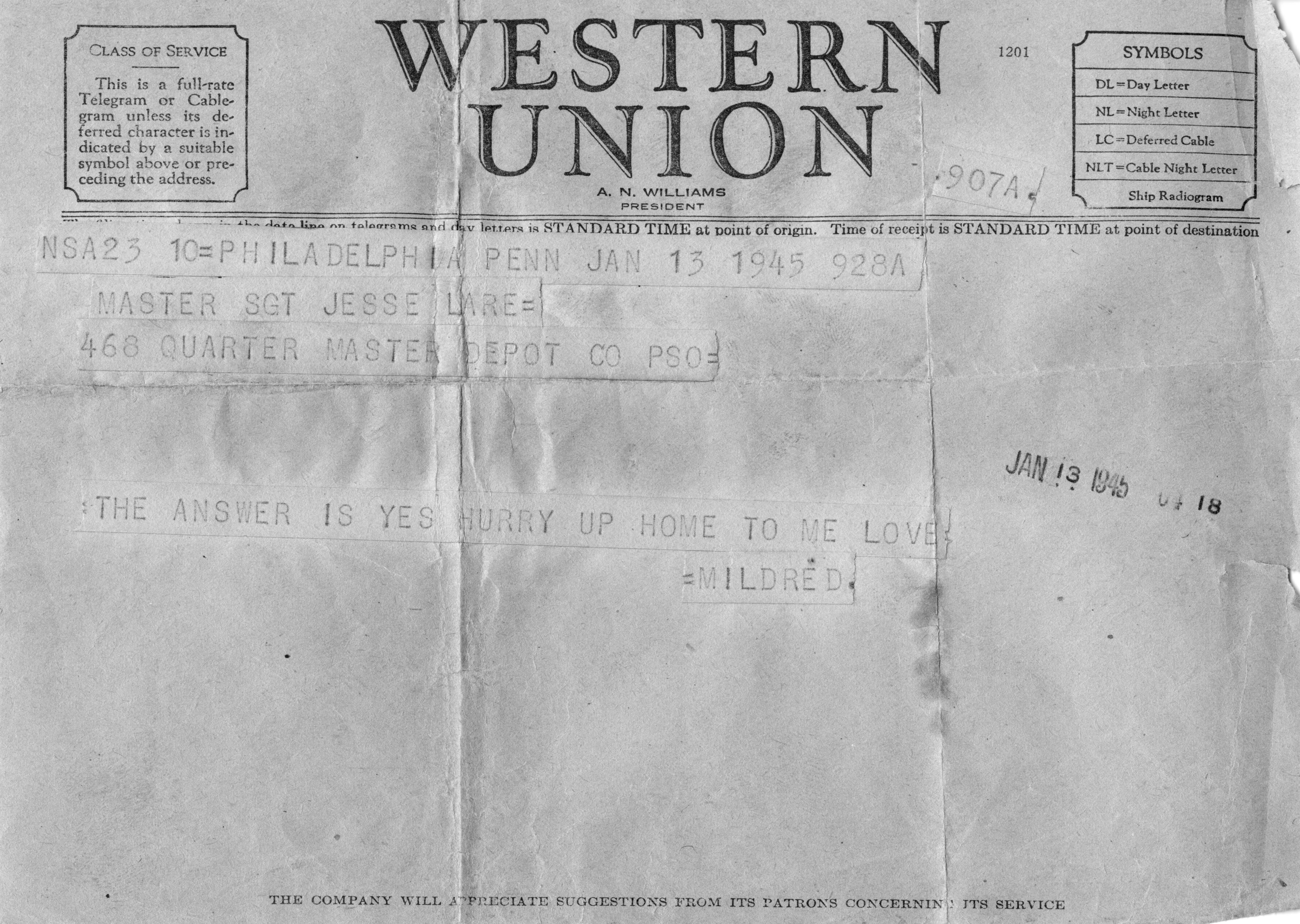 from the archives  world war ii love letters