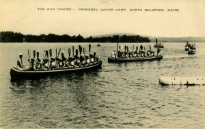 """The War Canoes"" postcard"