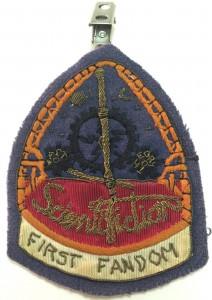 Lavender's First Fandom badge.