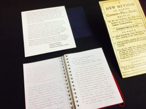 The Art of the Commonplace Book exhibit