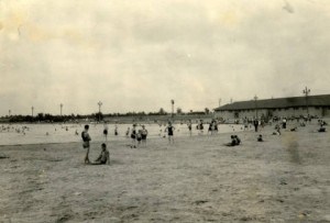 Swimmers at League Island Park, July 1925.