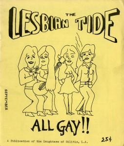 Lesbian Tide Sept 1972