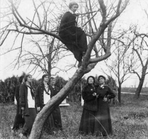 Class of 1913 students pruning