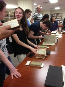 Students and rare books
