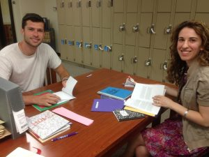 Student Nick Stanovick with Professor Kathryn Ionata