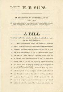 Dillingham bill