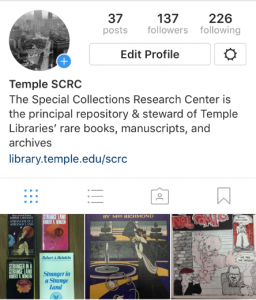 Instagram profile page