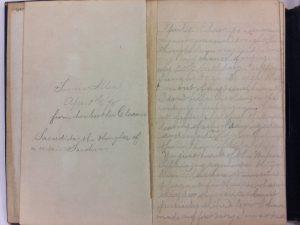 Fannie Allen Diary, 1875-1885