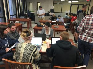 students in SCRC reading room