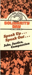 AFL-CIO Solidarity Day flier, 1981