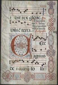 Antiphonary leaf, circa 16th century.