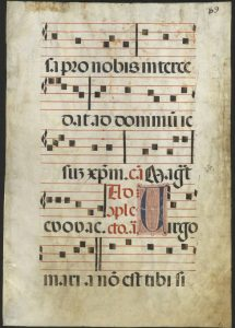 Spanish Antiphonary Leaf for the Feast of the Immaculate Conception, 16th century.