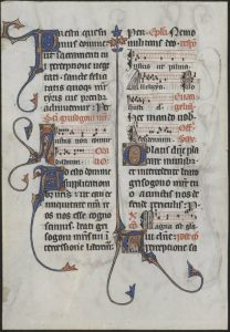 French Missal Leaf, 1285.