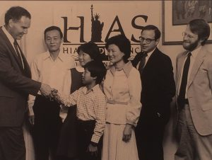 HIAS PA staff welcoming Southeast Asian refugees