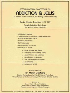 Addiction and Jews conference flier