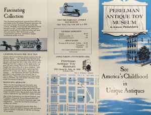 Perelman Antique Toy Museum brochure, undated