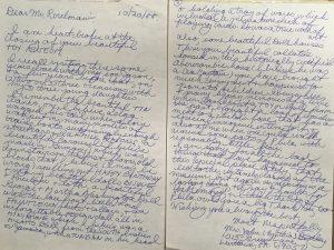 Letter to Leon Perelman regarding museum closing, October 22, 1988