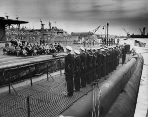 Sailors on deck of submarine