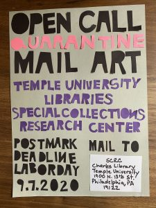 Mail art flyer, 2020