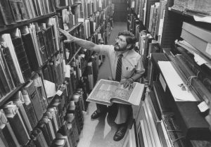 Whitehead in rare book vault