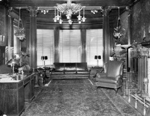 Burk Mansion living room