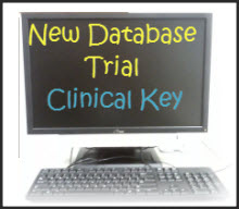 Computer screen displaying 'New Database Trial: Clinical Key
