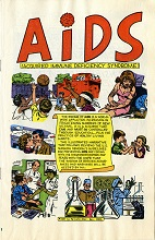 AIDS comic book cover