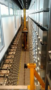 view of the automated storage and retrieval system at marywood university