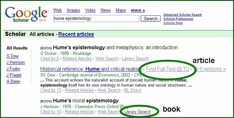 Use Google Scholar to Find Full-Text @ TU | Temple