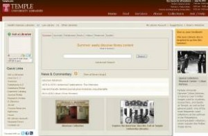 Screenshot of proposed new look for the Libraries' web site.