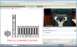 Screenshot of WebEx software