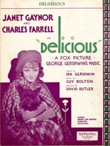 Gershwin sheet music cover Delicious