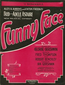 Funny Face sheet music cover