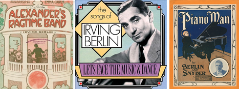 Sheet music covers of Irving Berlin