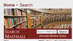 screenshot of merlot search box